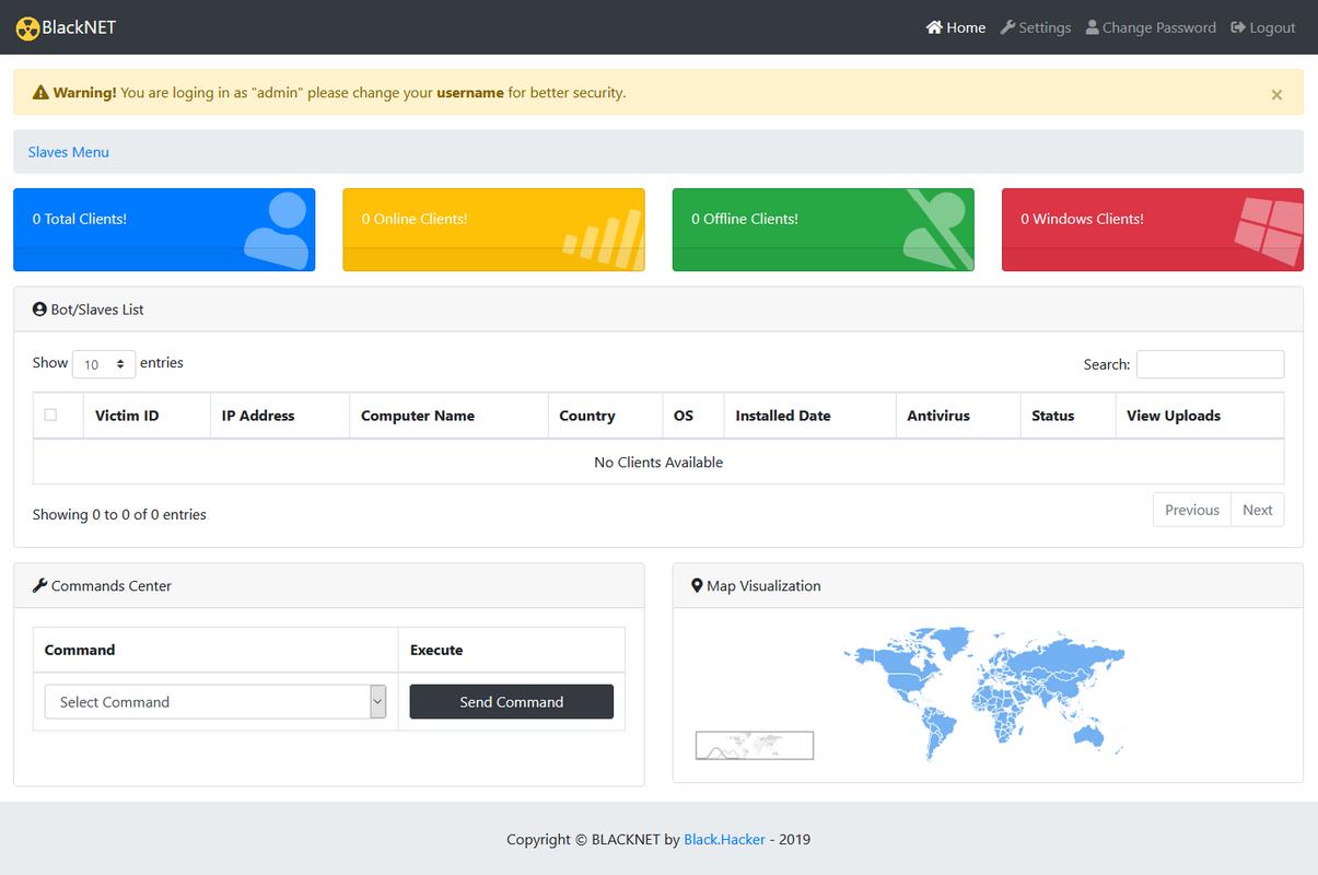 BlackNET v1.0.0  Advanced MultiOS BotNET   Secure PHP Panel