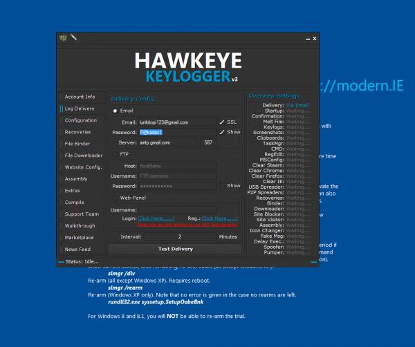 Hawk Eye Keylogger-
