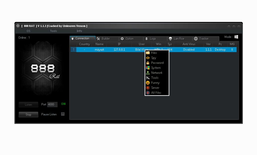 888 RAT 1.1.1 android windows