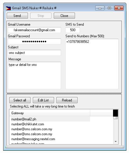 SMS Nuker