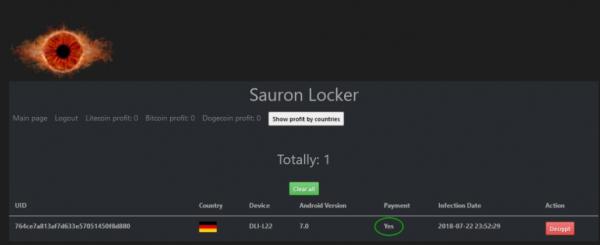 Sauron Locker - android locker (Ransomware)   src