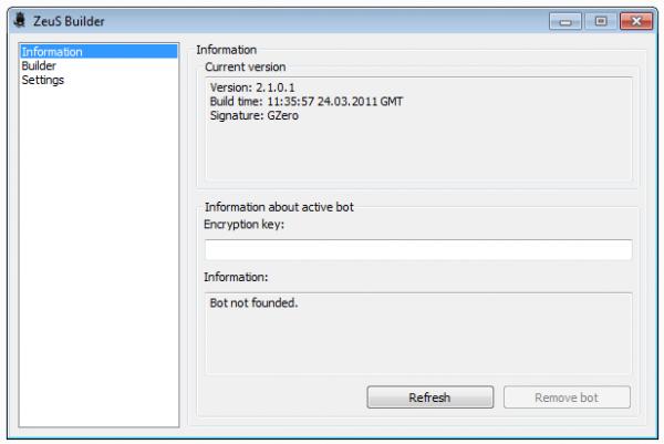 Zeus Botnet 2.1.0.1