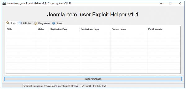 Joomla user Exploit Helper v1.1