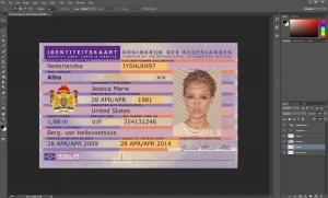 Netherlands ID Card PSD Template