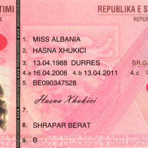 Albania Driving licence psd template