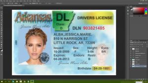 Arkansas Driving Licence PSD Template