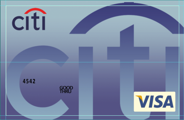 Citi Bank Credit Card Visa PSD template