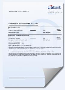citi bank uk bank statement cdr template