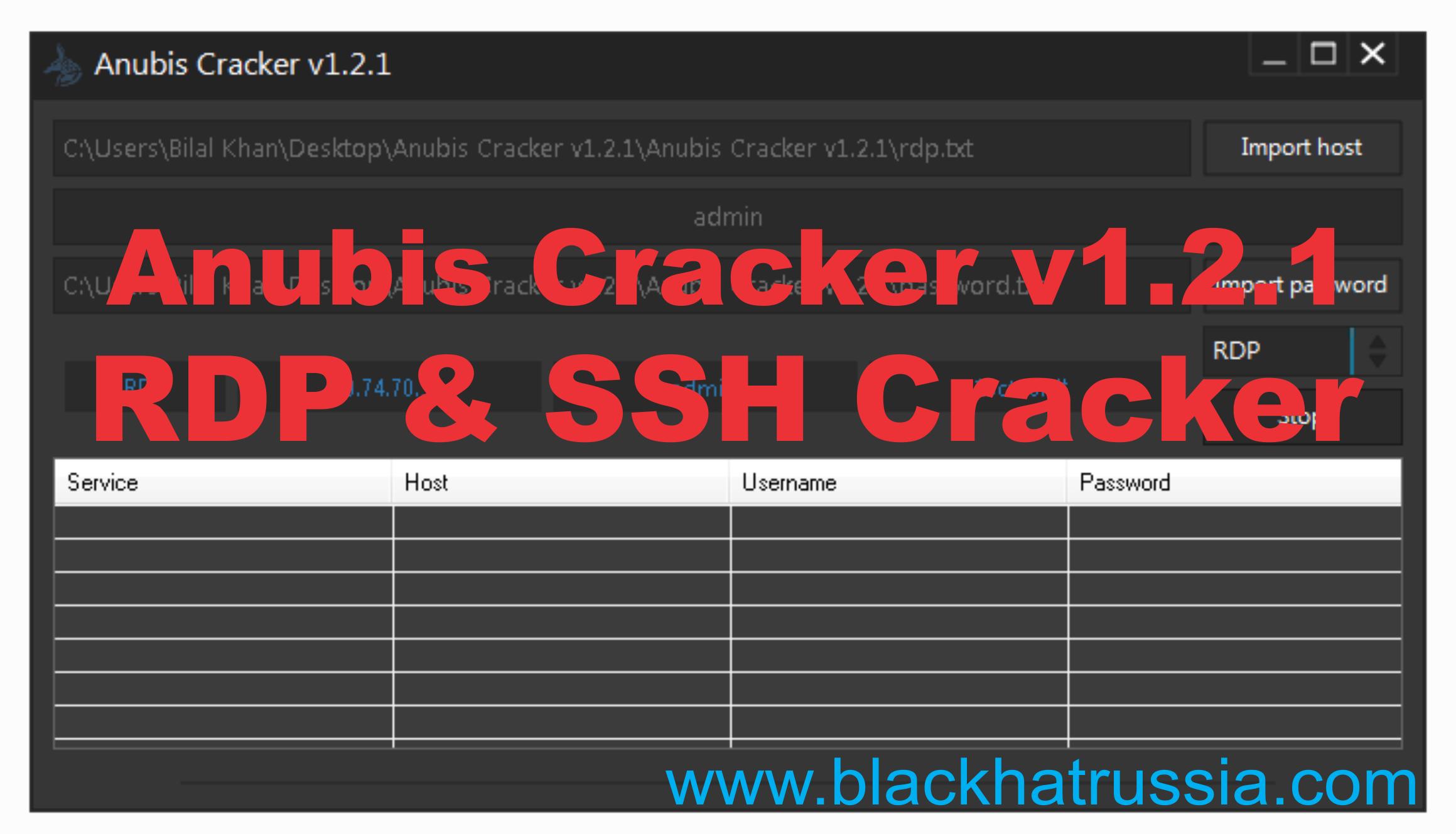 Anubis Cracker v1.2.1 RDP SSH cracker