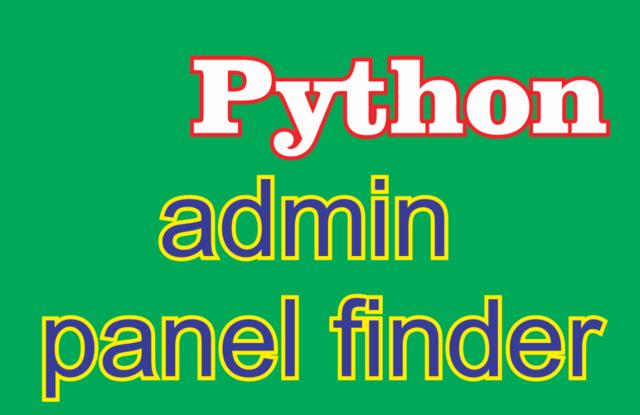 admin panel finder