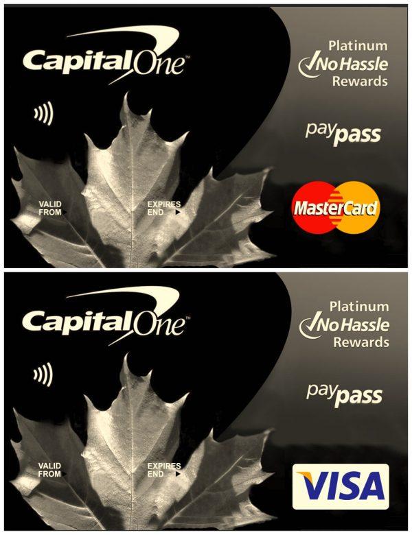 Capitol One Visa Master Card Credit PSD Template