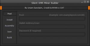Silent XMR Miner Builder v0.2