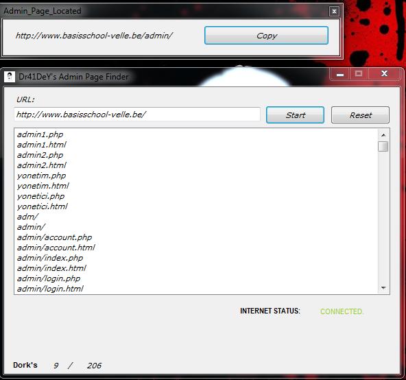 Admin Page Finder